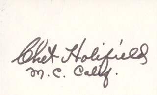 Autographs: CHET HOLIFIELD - SIGNATURE(S)