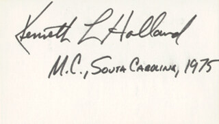 Autographs: KENNETH L. HOLLAND - SIGNATURE(S)