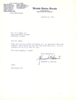 Autographs: SPESSARD L. HOLLAND - TYPED LETTER SIGNED 01/21/1963