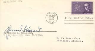 Autographs: SPESSARD L. HOLLAND - FIRST DAY COVER SIGNED