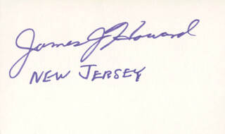 JAMES J. HOWARD - AUTOGRAPH