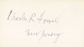 CHARLES R. HOWELL - BUSINESS CARD SIGNED