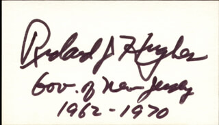 GOVERNOR RICHARD J. HUGHES - AUTOGRAPH