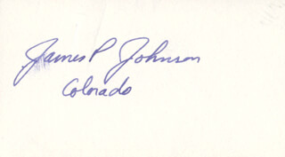 JAMES PAUL JOHNSON - AUTOGRAPH