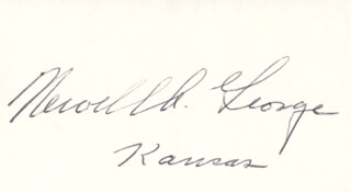 NEWELL GEORGE - AUTOGRAPH