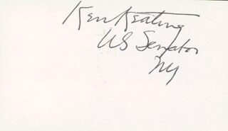 SENATOR KENNETH B. KEATING - AUTOGRAPH