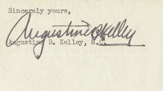 AUGUSTINE B. KELLEY - CLIPPED SIGNATURE