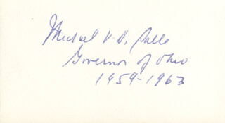 GOVERNOR MICHAEL V. DISALLE - AUTOGRAPH