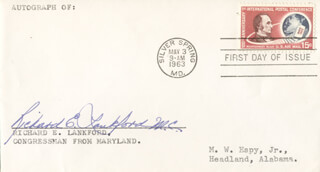 RICHARD E. LANKFORD - FIRST DAY COVER SIGNED