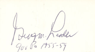 GOVERNOR GEORGE M. LEADER - AUTOGRAPH