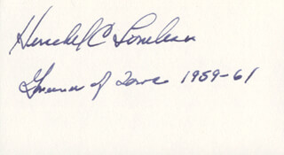 GOVERNOR HERSCHEL C. LOVELESS - AUTOGRAPH