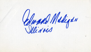 Autographs: EDWARD MADIGAN - SIGNATURE(S)
