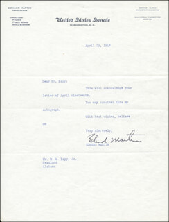 EDWARD MARTIN - TYPED LETTER SIGNED 04/23/1948