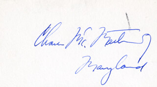 CHARLES M. MATHIAS JR. - AUTOGRAPH