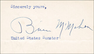 J. O. BRIEN McMAHON - TYPED SENTIMENT SIGNED