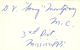 Autographs: G. V. SONNY MONTGOMERY - SIGNATURE(S)