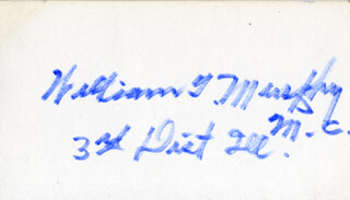 WILLIAM T. MURPHY - AUTOGRAPH