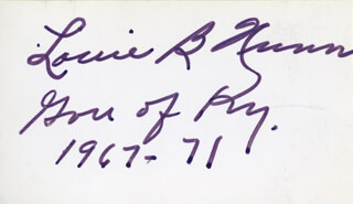 GOVERNOR LOUIE B. NUNN - AUTOGRAPH