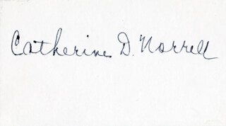 CATHERINE D. NORRELL - AUTOGRAPH