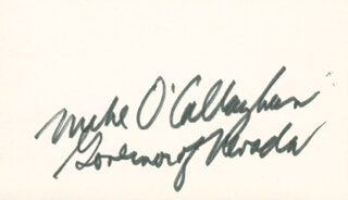 GOVERNOR MIKE (DONALD NEIL) O'CALLAGHAN - AUTOGRAPH