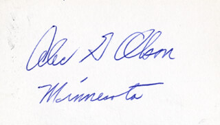 GOVERNOR ALEC G. OLSON - AUTOGRAPH