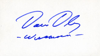 Autographs: DAVID R. OBEY - SIGNATURE(S)