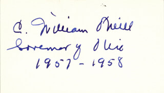 GOVERNOR C. WILLIAM O'NEILL - AUTOGRAPH