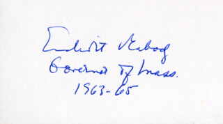 GOVERNOR ENDICOTT PEABODY - AUTOGRAPH