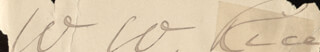 WILLIAM W. RICE - AUTOGRAPH