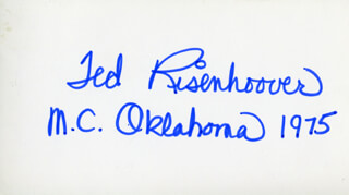 THEODORE MARSHAL TED RISENHOOVER - AUTOGRAPH