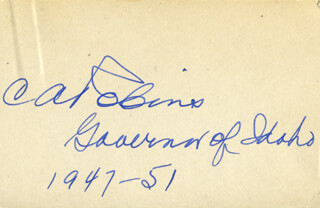 GOVERNOR CHARLES ARMINGTON ROBINS - AUTOGRAPH