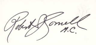 Autographs: REV. ROBERT J. CORNELL - BUSINESS CARD SIGNED