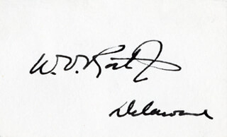 WILLIAM VICTOR ROTH JR. - AUTOGRAPH