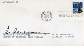 RICHARD L. ROUDEBUSH - FIRST DAY COVER SIGNED