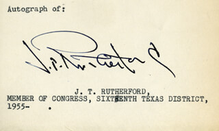 MAJOR J. T. RUTHERFORD - AUTOGRAPH