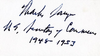 Autographs: CHARLES SAWYER - SIGNATURE(S)