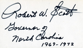 GOVERNOR ROBERT W. SCOTT (NC GOVERNOR) - AUTOGRAPH