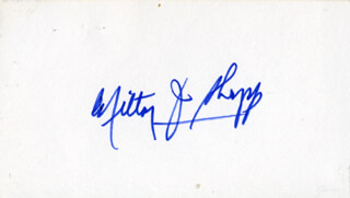 GOVERNOR MILTON J. SHAPP - AUTOGRAPH