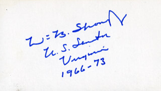 WILLIAM B. SPONG JR. - AUTOGRAPH