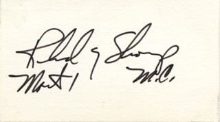 RICHARD G. SHOUP - AUTOGRAPH