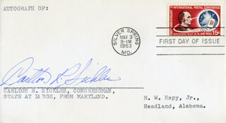 CARLTON R. SICKLES - FIRST DAY COVER SIGNED