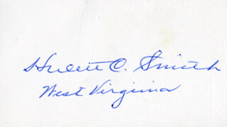 GOVERNOR HULETT C. SMITH - AUTOGRAPH