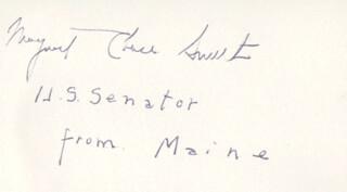 MARGARET CHASE SMITH - AUTOGRAPH