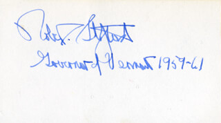 GOVERNOR ROBERT T. STAFFORD - AUTOGRAPH