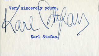 KARL STEFAN - TYPED SENTIMENT SIGNED