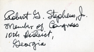 ROBERT G. STEPHENS JR. - AUTOGRAPH