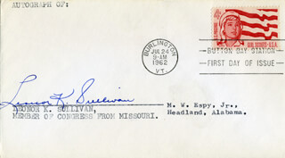 LEONOR K. SULLIVAN - FIRST DAY COVER SIGNED