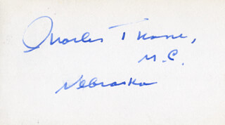CHARLES THONE - AUTOGRAPH