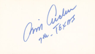 Autographs: BILL ARCHER - SIGNATURE(S)