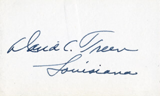 GOVERNOR DAVID C. TREEN - AUTOGRAPH